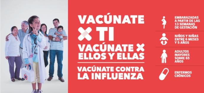 Se inicia campaña de vacunación contra la Influenza 2017