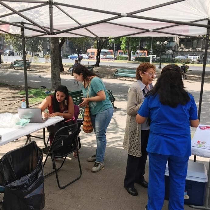 Continúa campaña de vacunación contra la Influenza