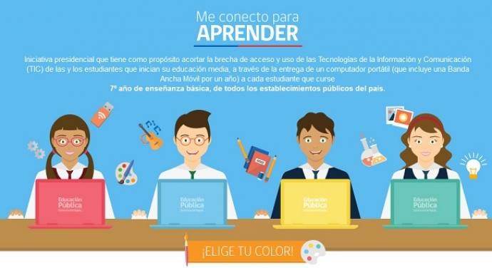 """Colegios de Providencia reciben computadores de Programa """"Me Conecto Para Aprender"""""""