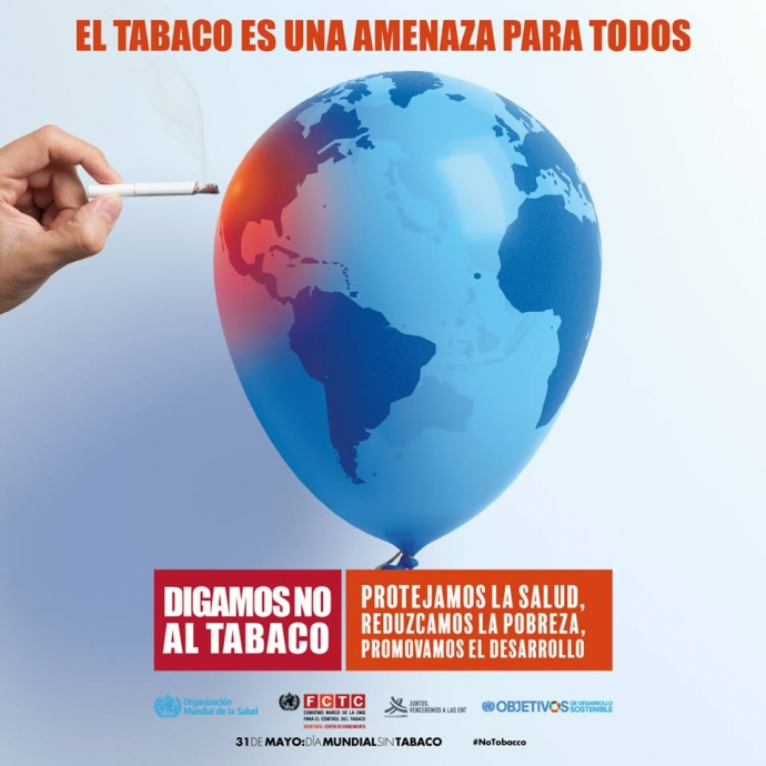 Dirección de Salud y sus unidades celebraron el Día Mundial Sin Tabaco